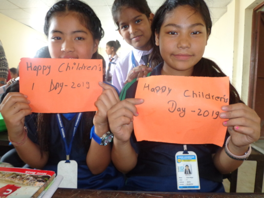 Students celebrating children's day