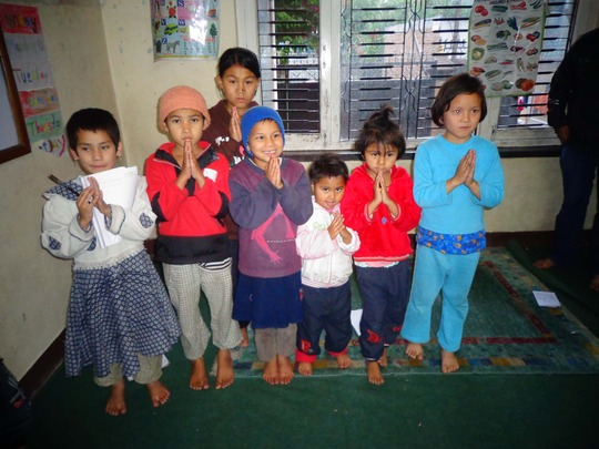 Little kids at the orphanage
