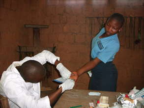 Voluntary testing in a rural school.