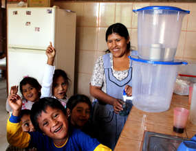 All smiles for the new water filters