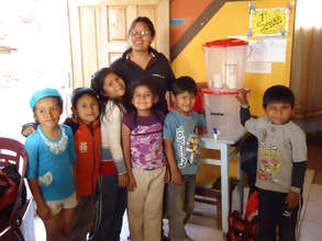 Water filter at a day care center in Cochabamba