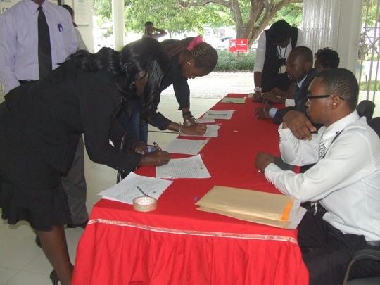 Registration of participants