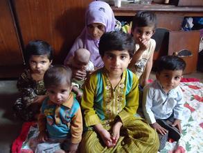 Samreen with her family