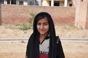 Anas, a 5th grade student at HDF's school in Sindh