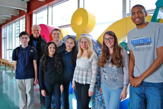 Cabrini College Students Visit PFF Alum at School