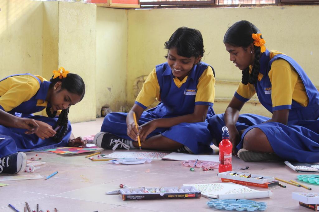 Achal in Art Class at school