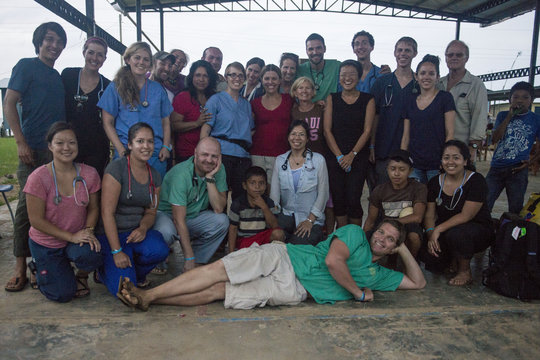 Floating Doctors team after a clinic in Bahia Azul