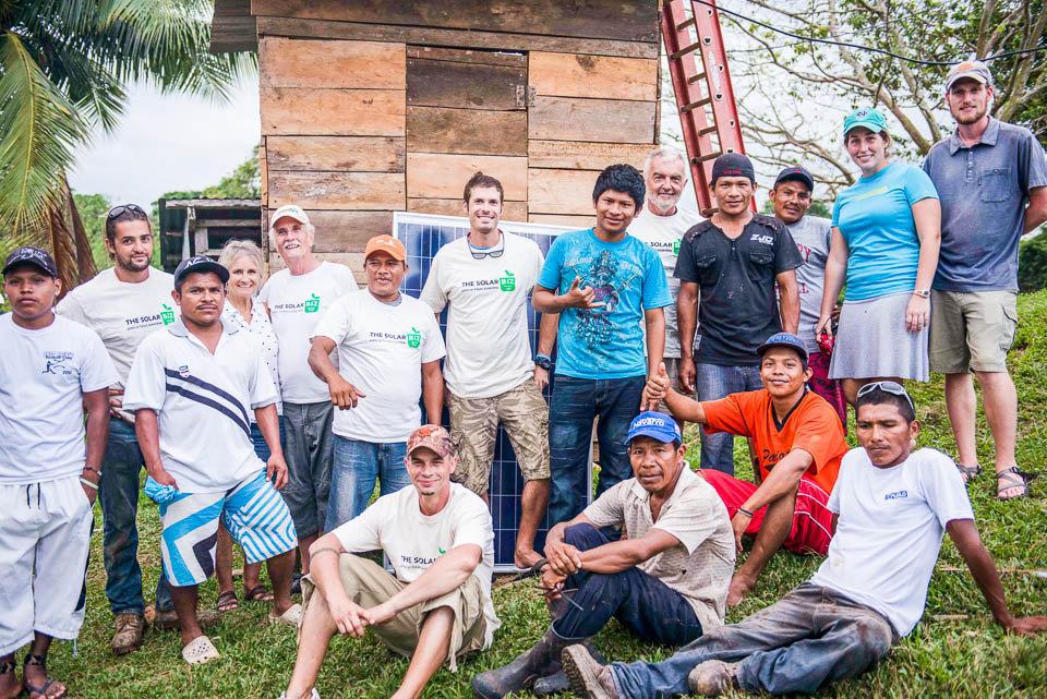 Telecom team with community members