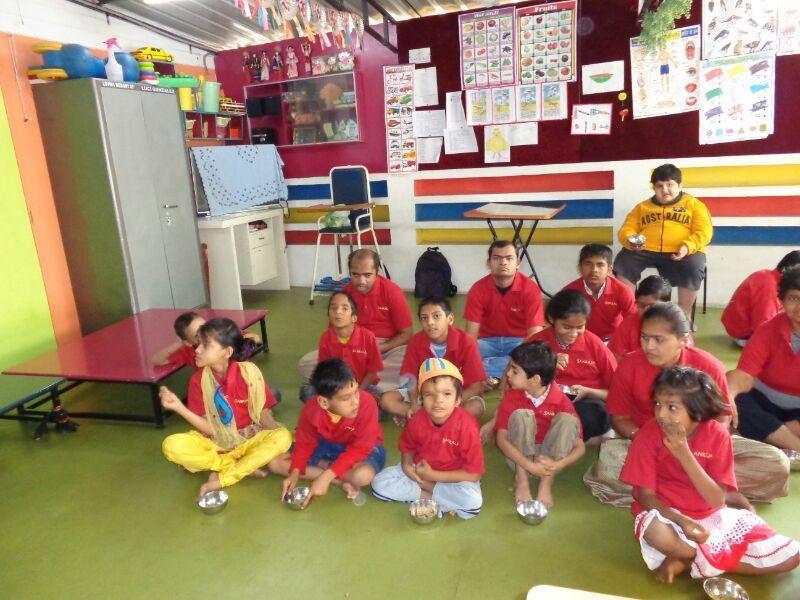 Sankalp Children taking Diet supplement