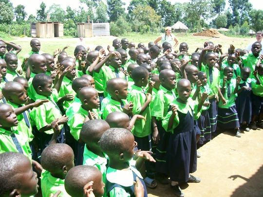 Children preparing for classes