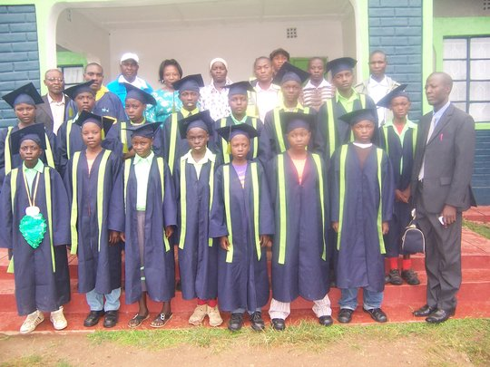 Pupils and teachers,during graduation