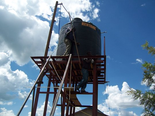 Raising our Water Tank
