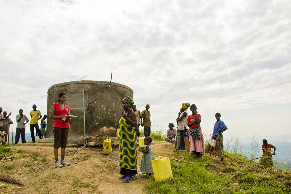 Community using the main water tank