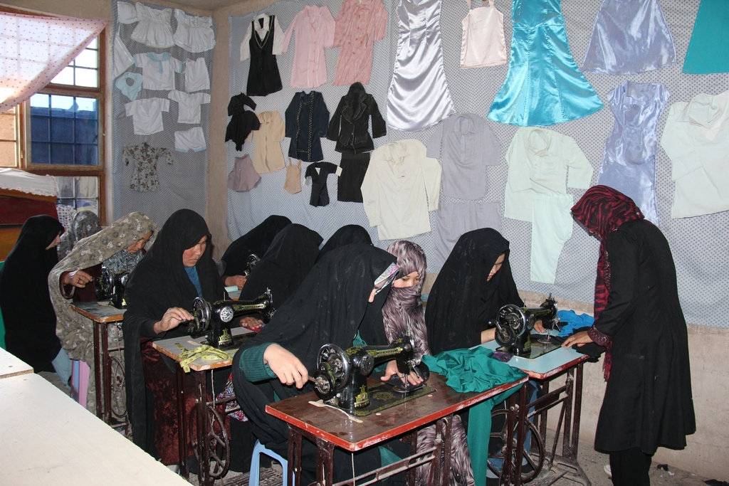 Women Using the New Sewing Machines