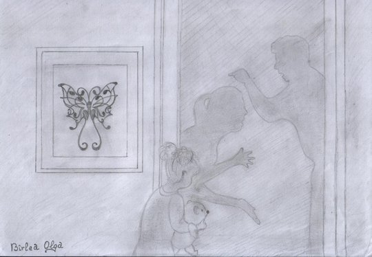 Olga Birlea's 2nd place drawing for ADVANCE