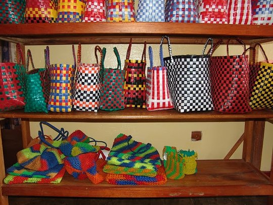 Finished products for sale from one woman's shop