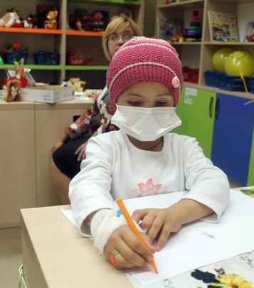 Patient at the Children's Hematology department.