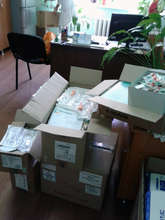 New supplies arrive to the Institute of Oncology.