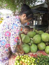 Cambodian woman selling fruit