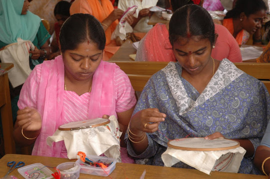 Hand Embroidery Students