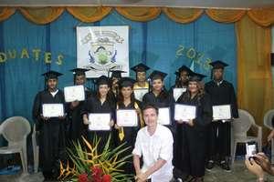 Danny and 2013 Ocean Academy Graduates