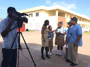 Hire Belize students interviewed on National TV