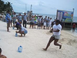 Sports Day race - fill bottle with sponge water