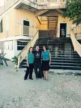 Danny with school founders Heidi and Joni