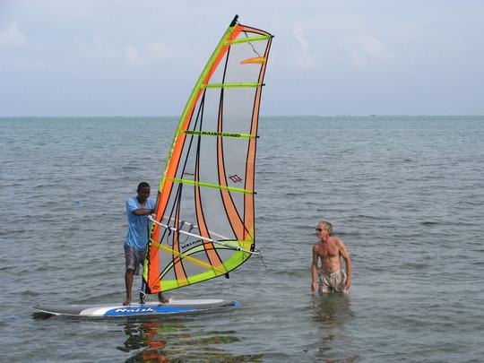 Dane teaches windsurfing