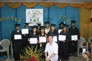 2013 Graduation with Danny as Master of Ceremonies