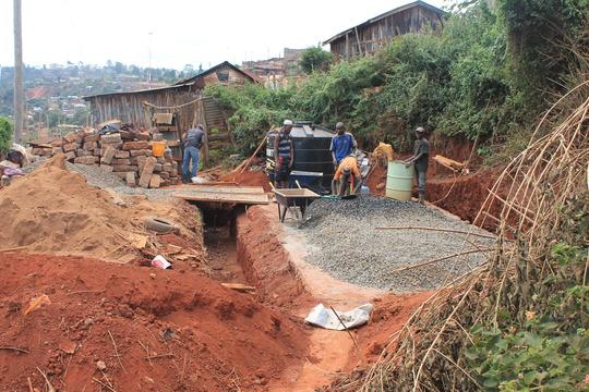 Beginning work on the foundation