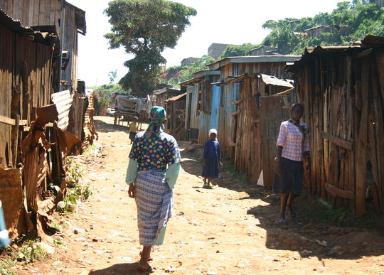 Street life in the slums we support