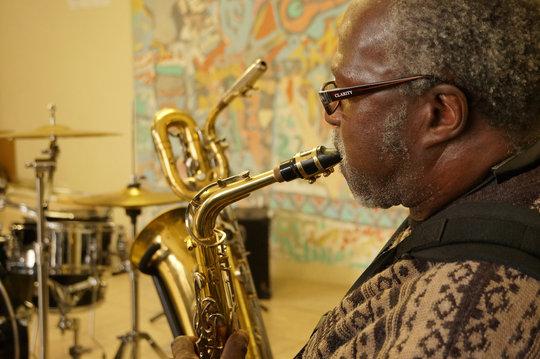 John, saxophone teacher at Ntonga