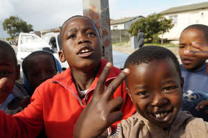 Children playing in Gugulethu