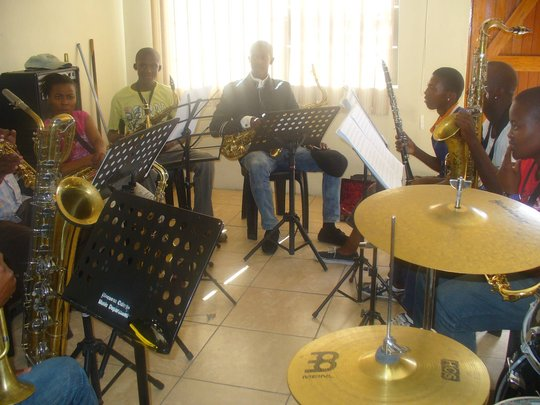 Saxophone class at Ntonga