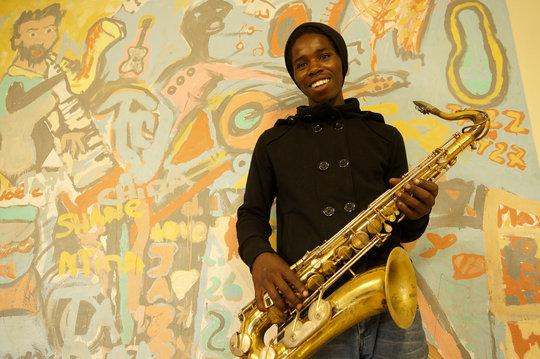 Saxophone student