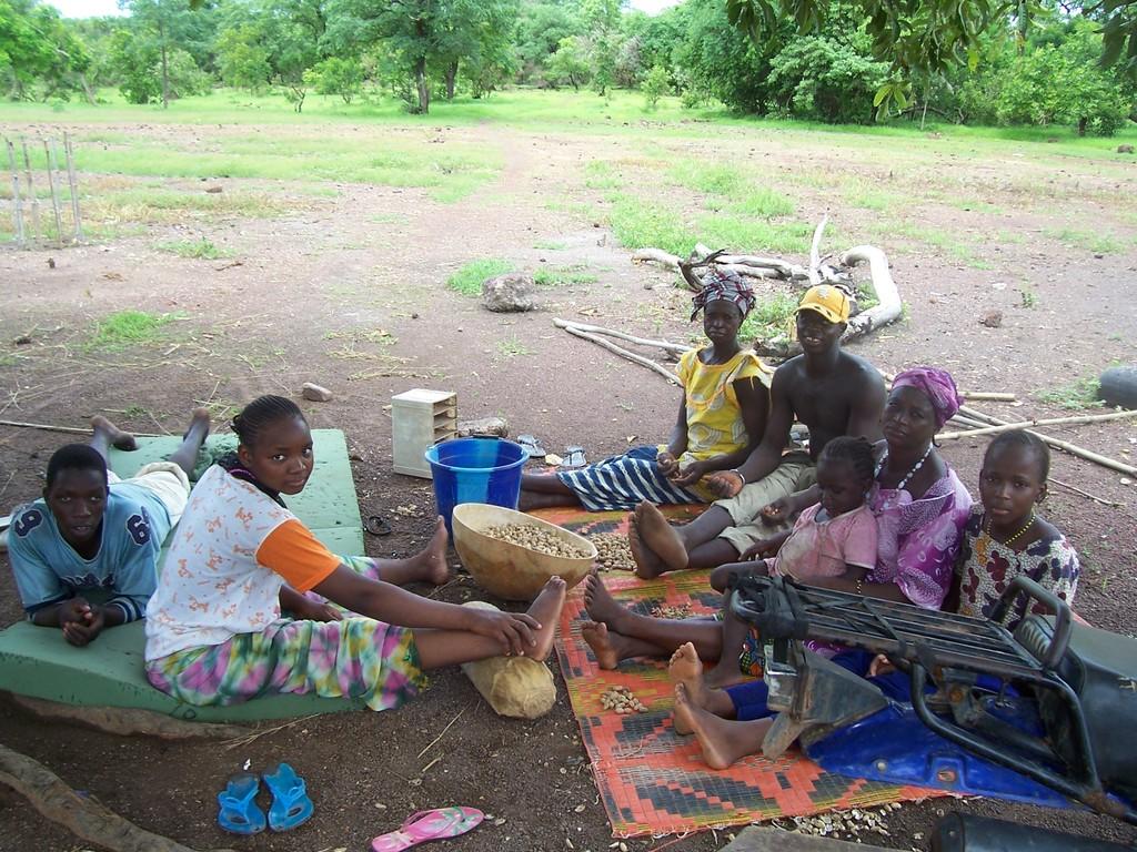 People of Fangoli village, Senegal