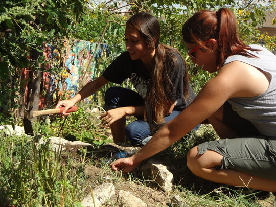 Fridays: Students grow in the community garden