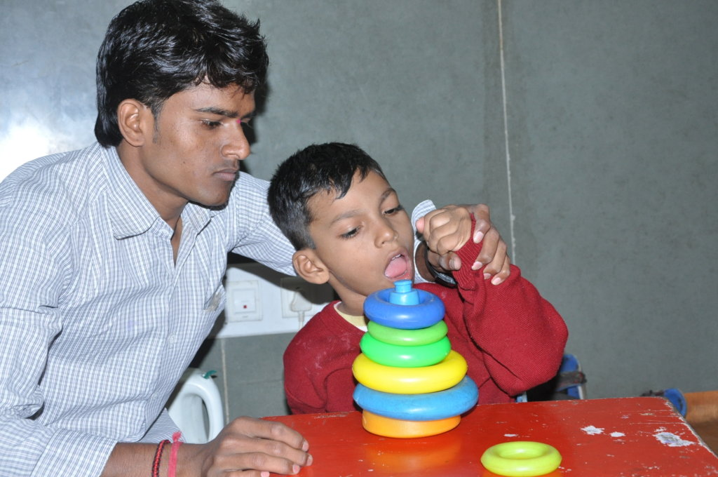 A child with Global delay developmen disability