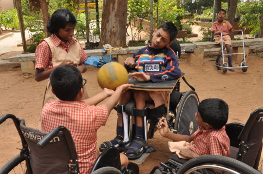 Educate 200children with disabilities in Bangalore