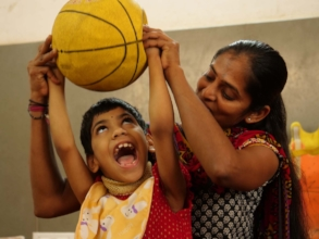 Physio Therapy session for child