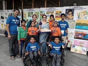 Students in Sambav, an InternationalArtEvent Delhi