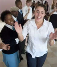 Students perform dance