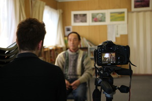 behind the scenes of an interview