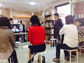 Local visitors at the Ishinomaki Archive