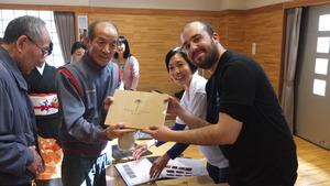Resident of Watari recieve his story on DVD
