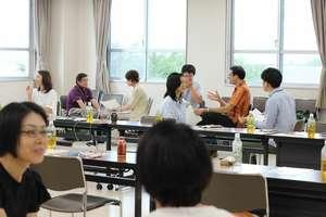 Workshop participants practice interviewing