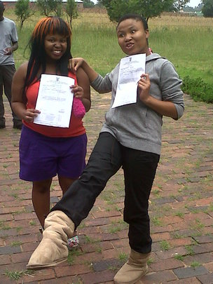 Ntebaleng and Asanele Celebrating distinctions