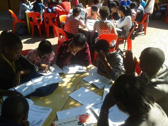 Ikamvanites studying in small groups