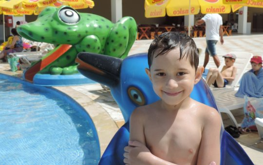 Summer fun at the aqua park